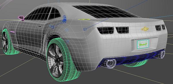 La simulation automobile for 3d modelisation