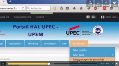 Copie d'écran vidéo HAL demander le partage de propriété
