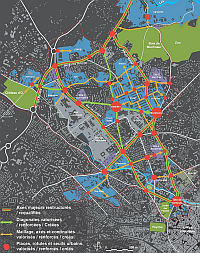 Projet de r�am�nagement de la ville pour le Plan Campus (page 87 du dossier du Plan Campus)